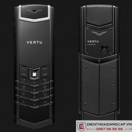 Vertu Mới Signature PURE BLACK SKIN DIAMOND 2016 01