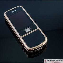 Nokia 8800 Vàng hồng da đen đính rồng phím đá 2