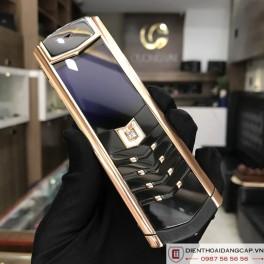 Vertu cũ Signature S Vertu Design Rose Gold Black DLC Sapphire Key 03
