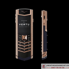 Vertu Mới Signature RED GOLD CLOUS DE PARIS SIDE CHEEKS NAVY CALF 2016 01