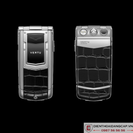 Vertu cũ Ayxta Black Alligator Ceramic Keys 01
