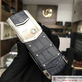 Vertu cũ  Signature S Navy Alligator 04