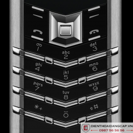 Vertu Mới Signature STAINLESS STEEL BLACK LEATHER 2016 03