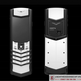 Vertu cũ Signature Black and White Phím Diamond 01