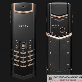 Vertu Mới Signature PURE BLACK MIX RED GOLD 2016 01