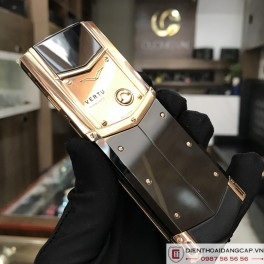 Vertu Signature S DESIGN ROSE GOLD BLACK DLC 05