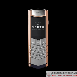 Vertu Mới Signature RED GOLD HANDSET NAVY CALF 2016 02