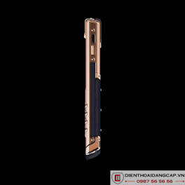 Vertu Mới Signature RED GOLD HANDSET NAVY CALF 2016 03