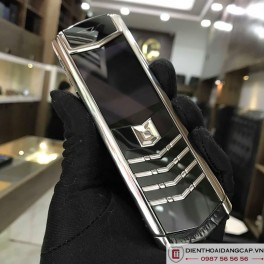 Vertu cũ Signature S Stainless Steel Black Alligator 02