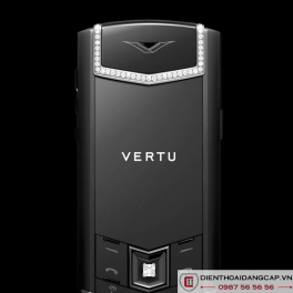 Vertu Mới Signature PURE BLACK SKIN DIAMOND 2016 02