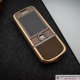 Nokia 8800 vàng hồng da nâu full đá 2