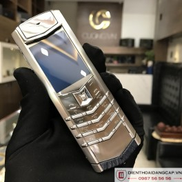 Vertu cũ  Signature S NAVY STAINLESS STEEL 01