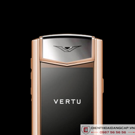 Vertu Mới Signature RED GOLD HANDSET NAVY CALF 2016 04