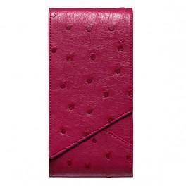Bao da đà điểu màu hồng dành cho Vertu Aster