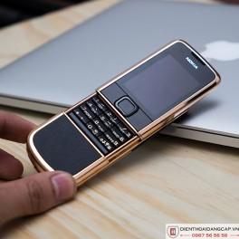 Nokia 8800 vàng hồng da đen 4