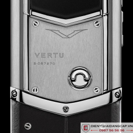 Vertu Mới Signature STAINLESS STEEL BLACK LEATHER 2016 02