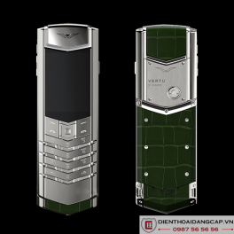 Vertu Mới Signature STAINLESS STEEL HANDSET HUNTER GREEN ALLIGATOR 2016 01