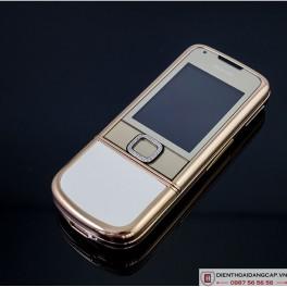 Nokia 8800 Vàng hồng da trắng đính rồng phím đá 3