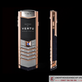 Vertu Mới Signature RED GOLD HANDSET BLUE SAPPHIRE SELECT KEY 2016 01