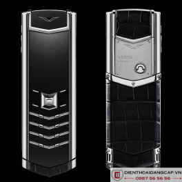 Vertu cũ Signature S Stainless Steel Black Alligator 01