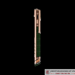 Vertu Mới Signature S ROSE GOLD HUNTER GREEN ALLIGATOR 03