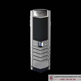 Vertu Signature S SILVER NAVY ALLIGATOR BLUE SAPPHIRE SELECT KEY 02