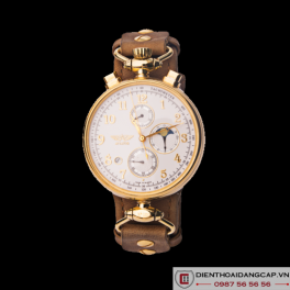 WRIGHT BROTHERS Aviator Chronograph 31679 MOONPHASE GOLD - 04