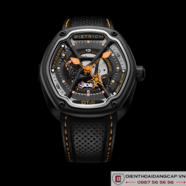 DIETRICH OT6 on Orange Stitching and Perforated Leather Strap  - 05