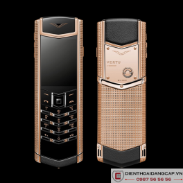 Vertu cũ  Signature S Clous De Paris Rose Gold 01
