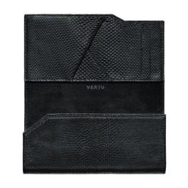 Bao da rắn kiểu ví màu đen cho Vertu Aster