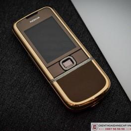Nokia 8800 vàng hồng da nâu full đá 3