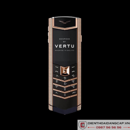 Vertu Mới Signature RED GOLD CLOUS DE PARIS SIDE CHEEKS NAVY CALF 2016 02