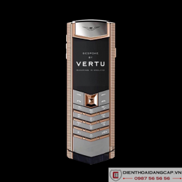 Vertu Mới Signature RED GOLD CLOUS DE PARIS HANDSET NAVY 2016 02