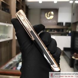 Vertu cũ Signature S Vertu Design Rose Gold Black DLC Sapphire Key 04