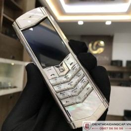 Vertu cũ Signature s white alligator 02