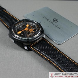DIETRICH OT6 on Orange Stitching and Perforated Leather Strap  - 02