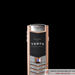 Vertu Mới Signature RED GOLD HANDSET BLUE SAPPHIRE SELECT KEY 2016 04