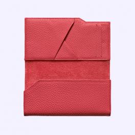 Bao da bê kiểu ví màu đỏ hồng cho Vertu Aster 3
