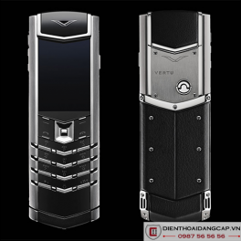 Vertu Mới Signature STAINLESS STEEL BLACK LEATHER 2016 01