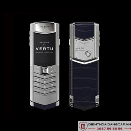 Vertu mới Signature CLOUS DE PARIS SILVER SAPPHIRE KEY NAVY BLUE ALLIGATOR 2016 01