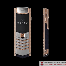 Vertu Mới Signature RED GOLD CLOUS DE PARIS HANDSET NAVY 2016 01
