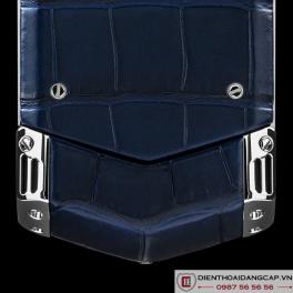 Vertu Mới Signature S STAINLESS STEEL HANDSET SAPPHIRE KEY NAVY BLUE LEATHER 2016 04
