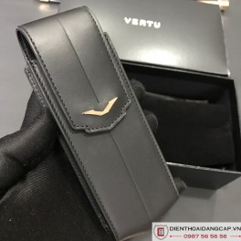 Bao da đen với logo vàng hồng nguyên khối cho Signature S 01