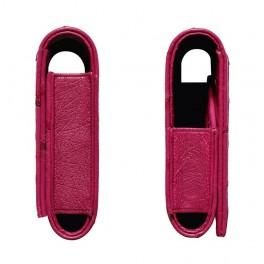 Bao da đà điểu kiểu ví màu hồng dành cho Vertu Aster 4