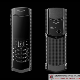 Vertu cũ Signature S Clous de Paris Stainless Steel Black 01