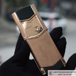 Vertu cũ  Signature S Clous De Paris Rose Gold 02