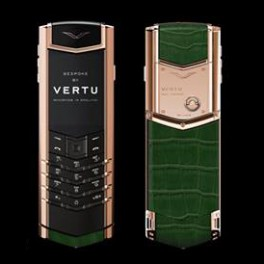 Vertu mới Signature RED GOLD HUNTER GREEN ALLIGATOR 2016