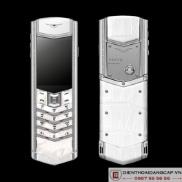 Vertu cũ Signature s white alligator 01