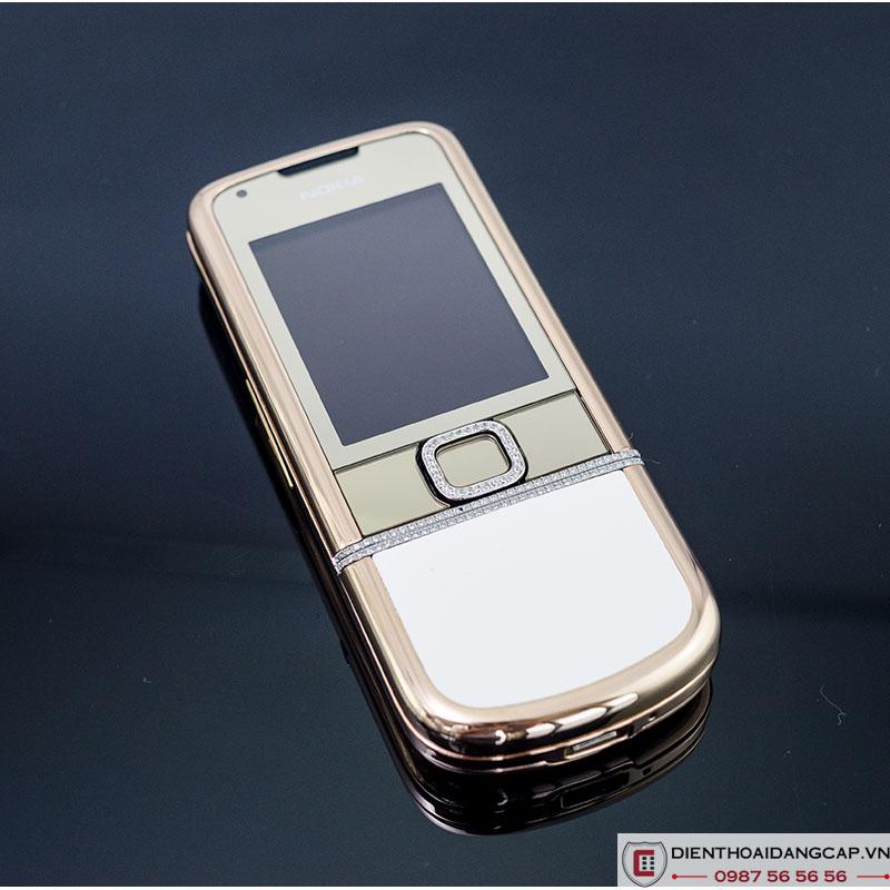 Nokia 8800 vàng hồng da trắng
