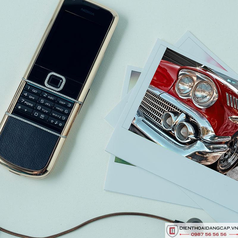 Nokia 8800 vàng hồng da đen full đá chính hãng
